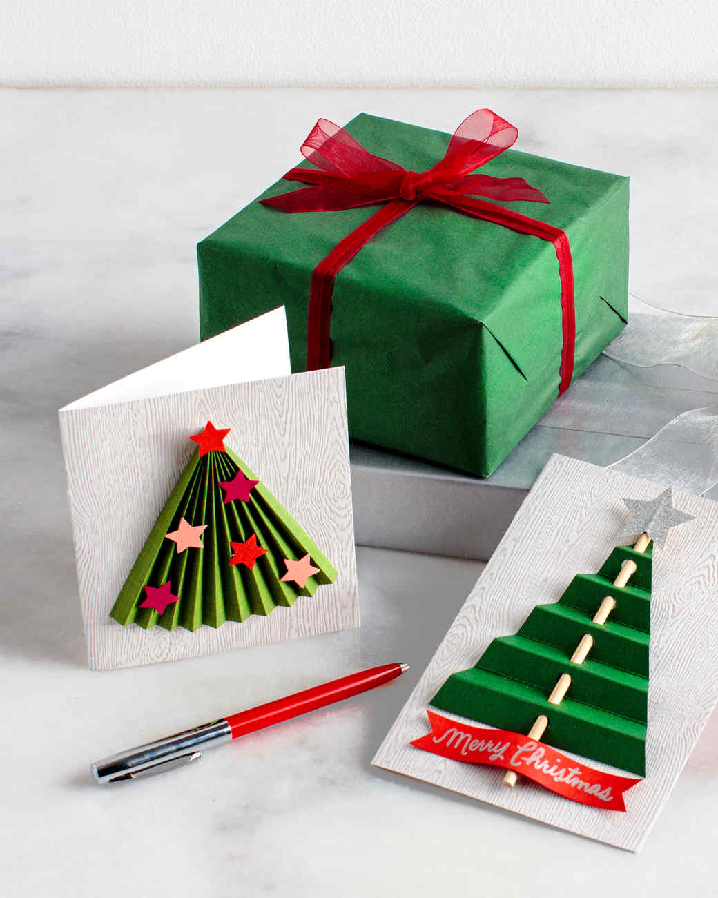 Christmas cards martha stewart for Easy diy christmas cards