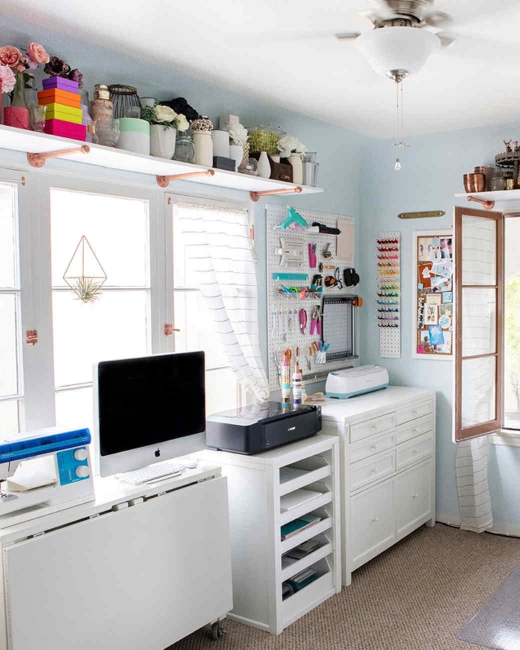 A Quaint Craft Room Gets an Unbelievable Makeover Martha Stewart