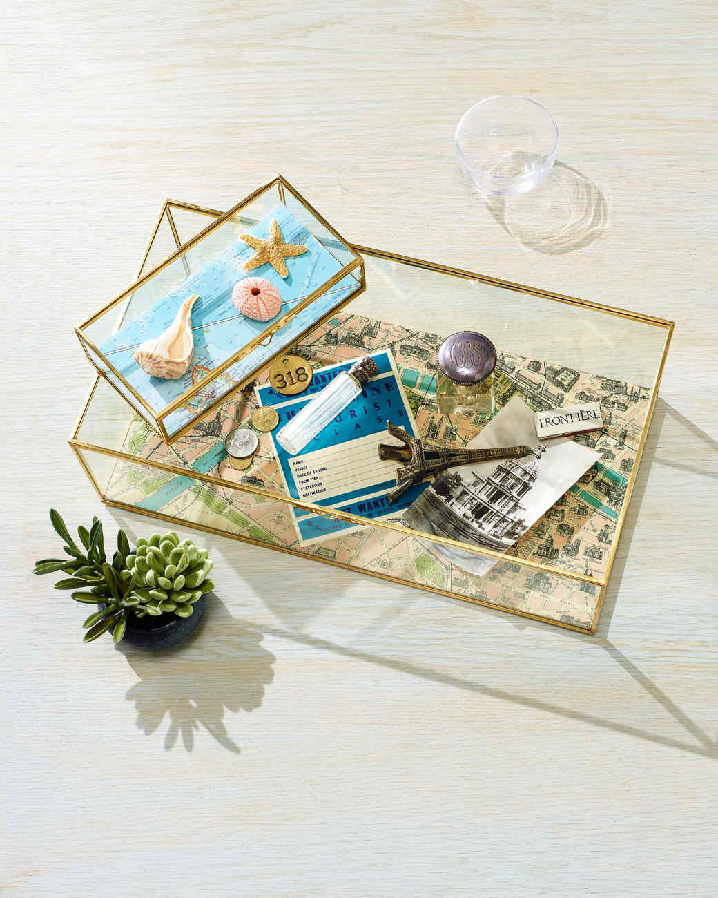 vacation memory box coffee table