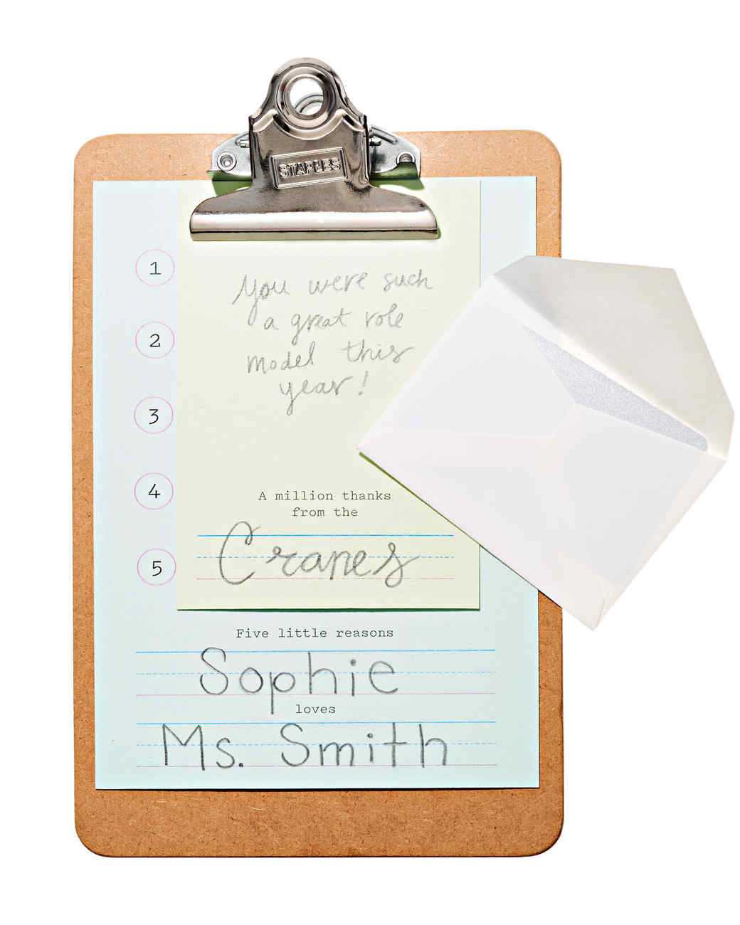 teacher appreciation clipboard gift