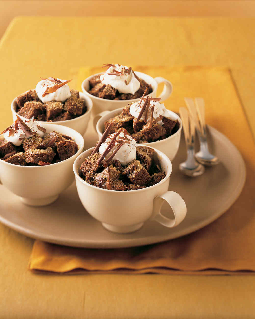 Spiced Chocolate Bread Puddings