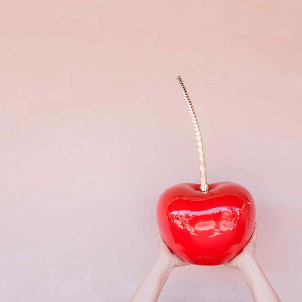 cherry-prop-on-pink