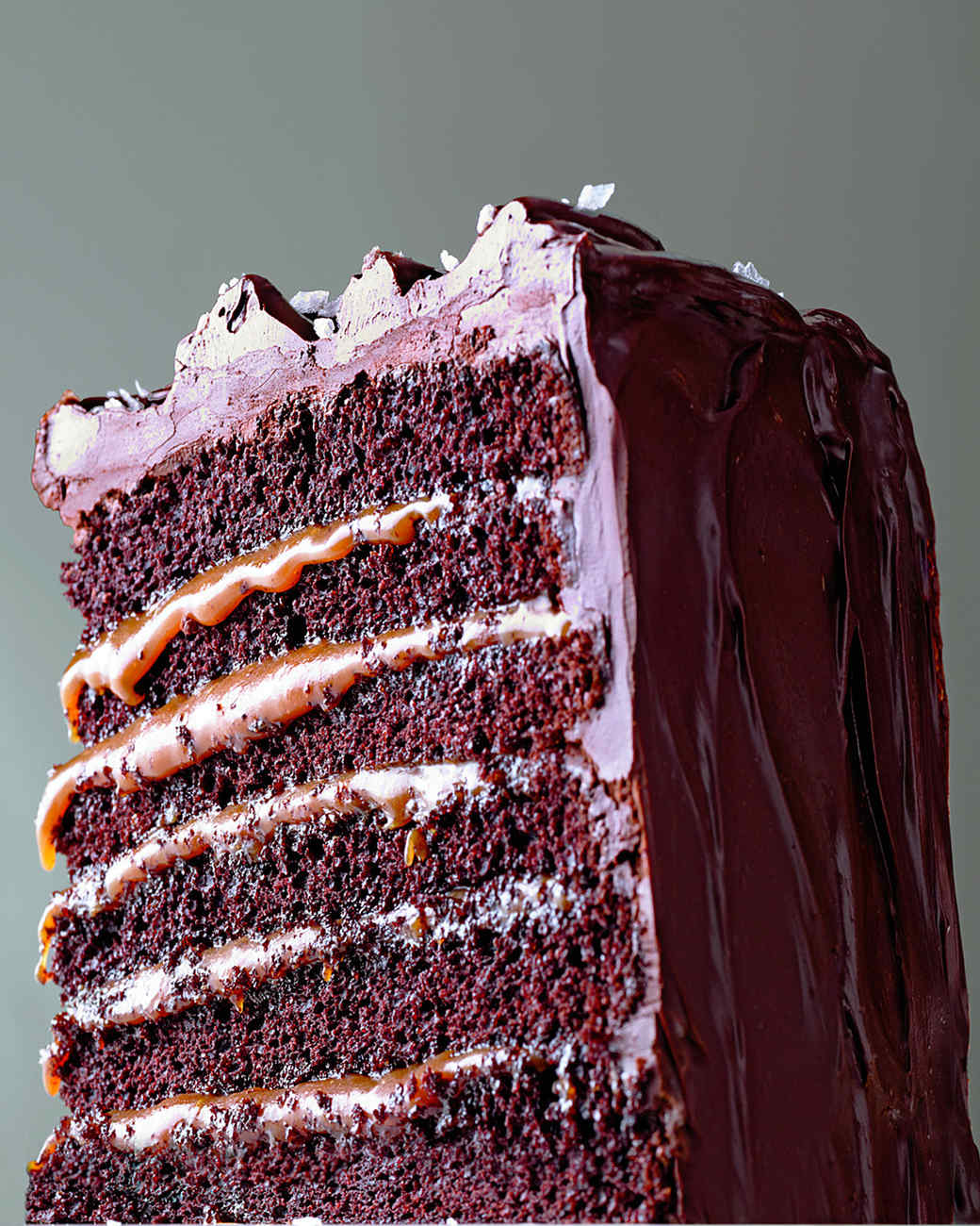 Caramel Six-Layer Chocolate Cake