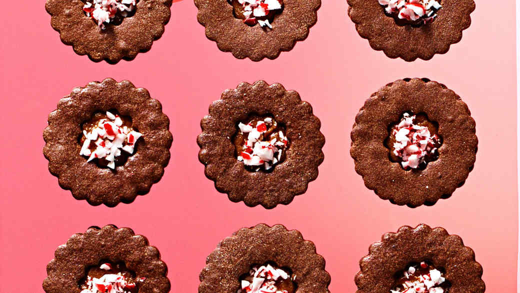 Double-Chocolate Peppermint Sandwiches