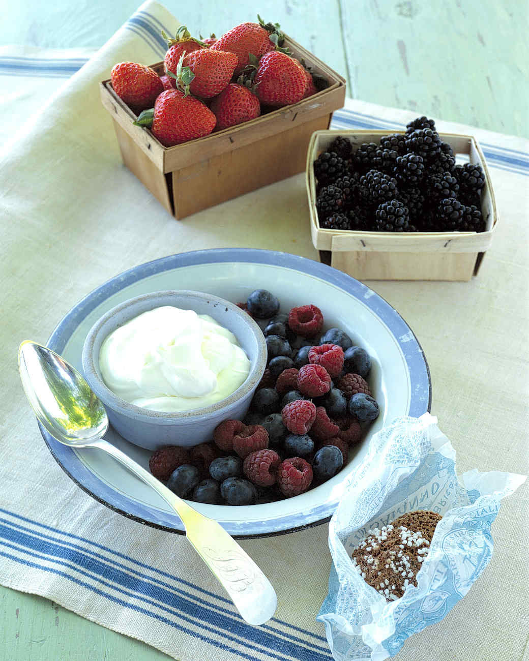 Macerated Berry and Creme Fraiche Parfait