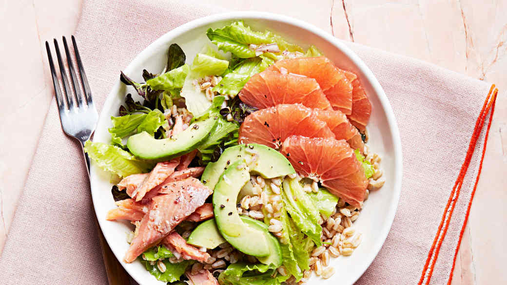 "Grapefruit and Smoked-Trout ""Cobb"" Salad"