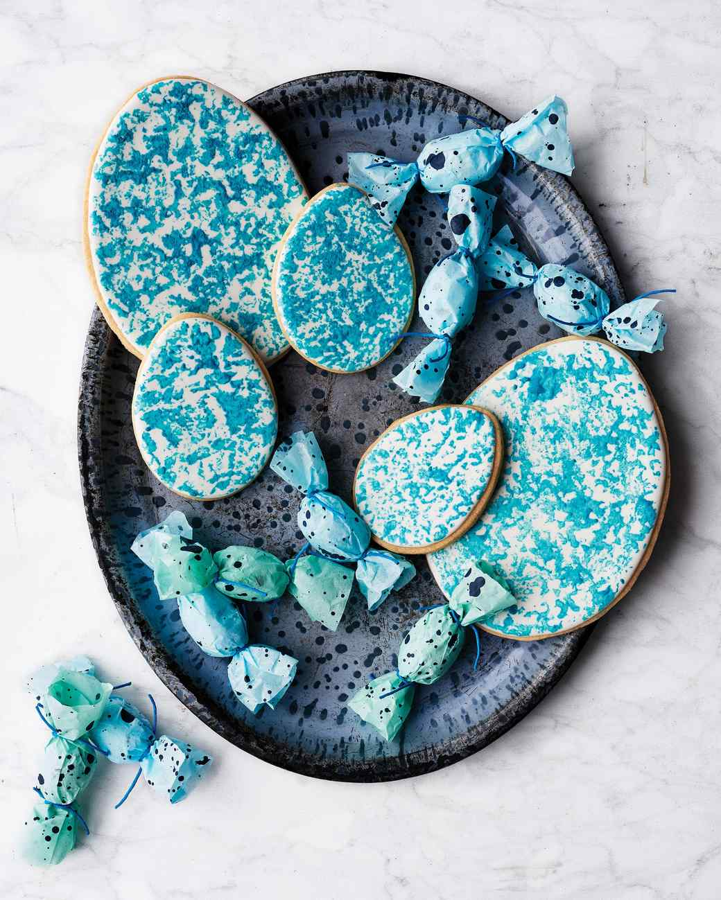 Sponge-Painted Easter Egg Cookies