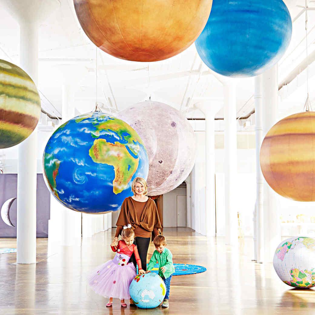interstellar party martha stewart portrait grandkids planets