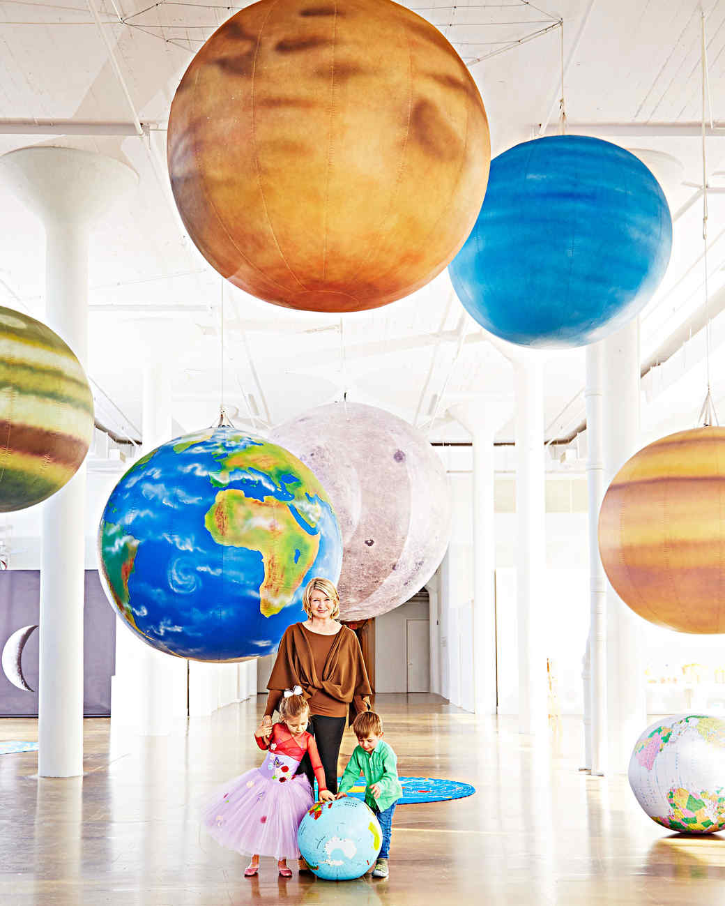 interstellar party martha stewart portrait grandkids planets
