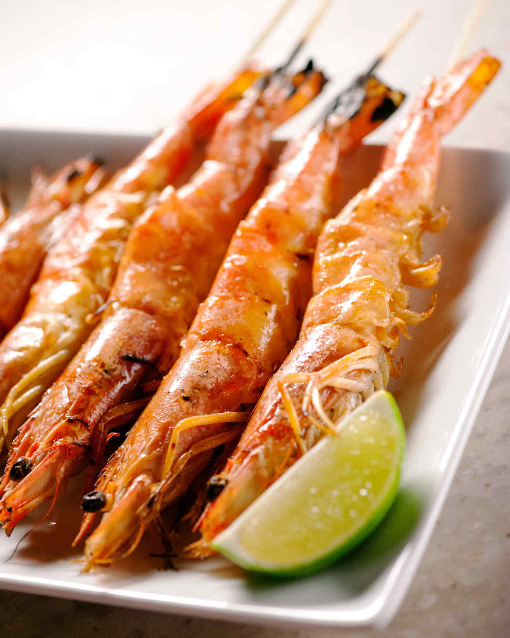 Grilled Shrimp with Lemongrass Marinade Recipe | Martha ...
