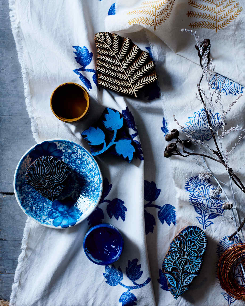 Here S How To Beautifully Block Print Your Own Set Of Linens
