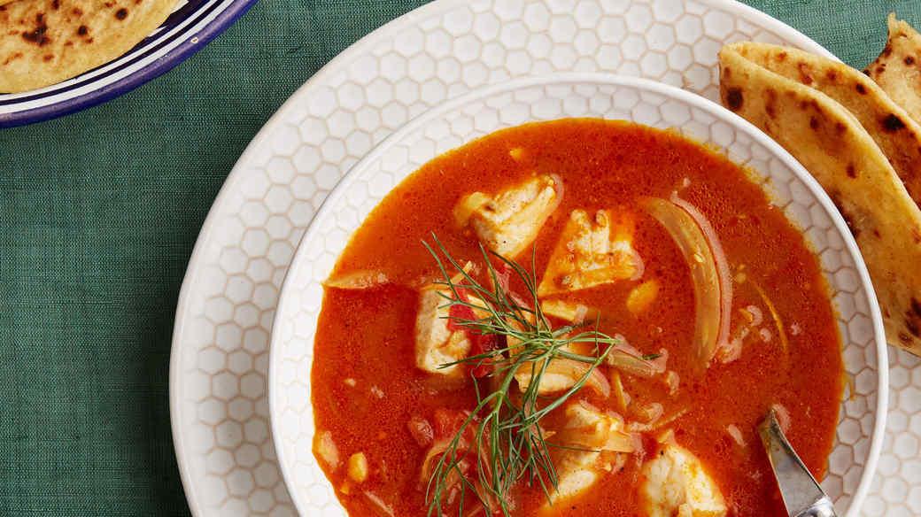 curried swordfish stew