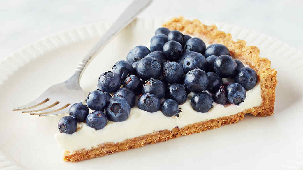Martha's Buttermilk-Blueberry Tart with Walnut Crust