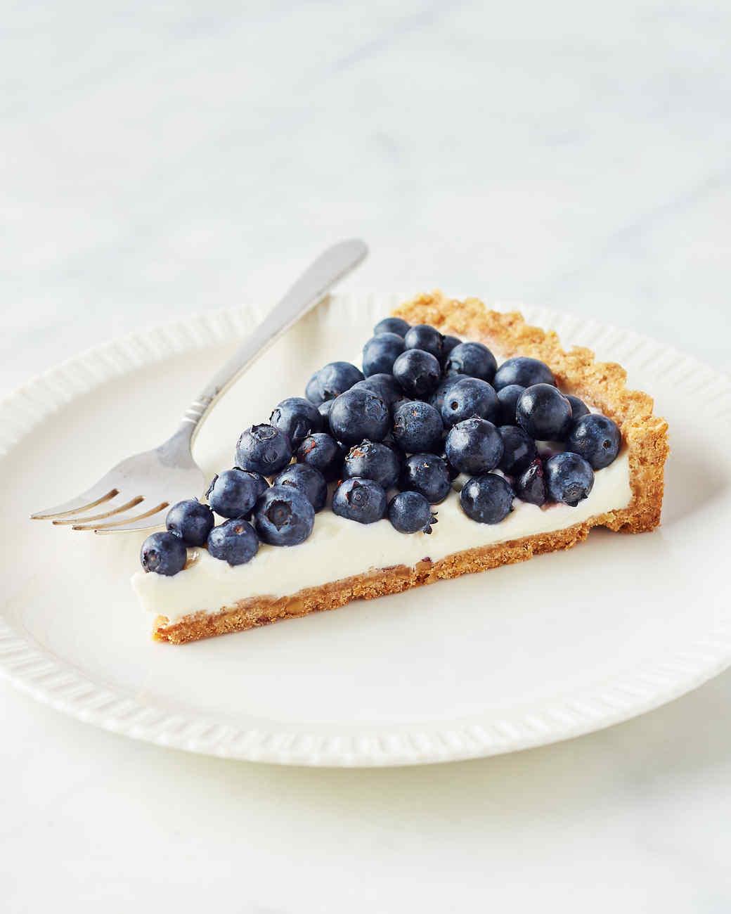 Martha's Buttermilk-Blueberry Tart with Walnut Crust