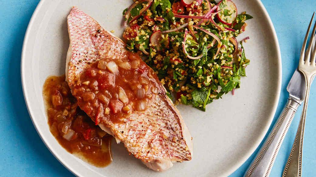 fish with tamarind sauce