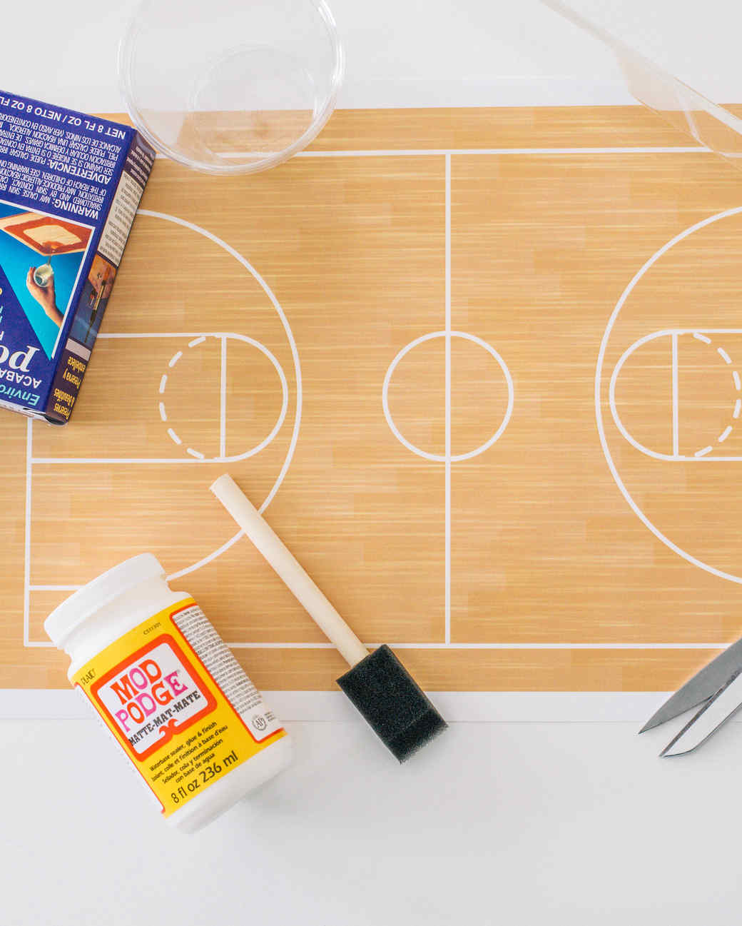 March madness basketball party tray martha stewart for Average basketball court size