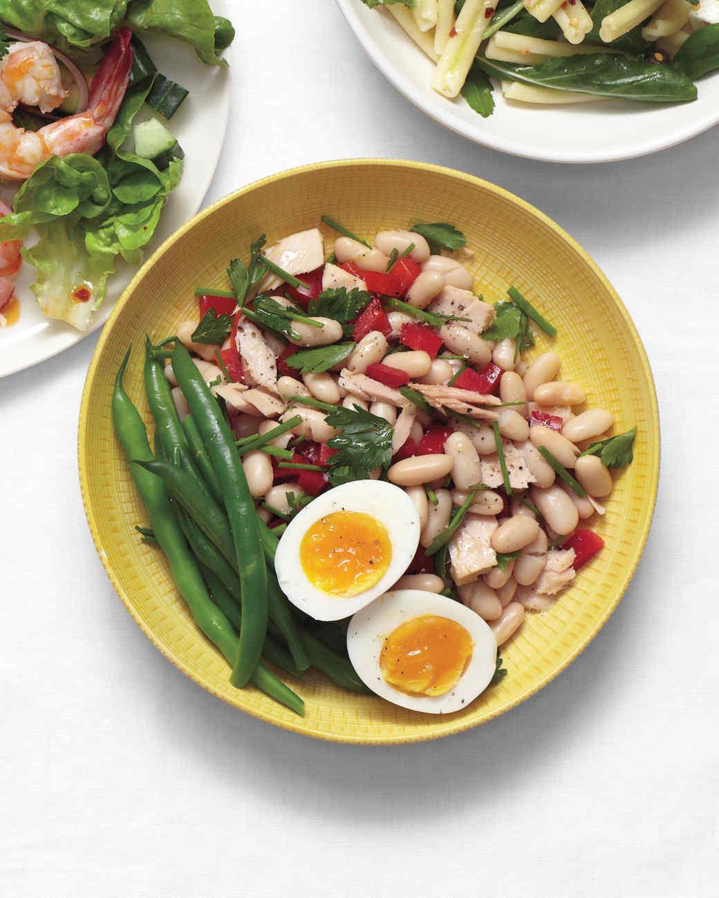Tuna and White Bean Salad with Eggs Recipe   Martha Stewart