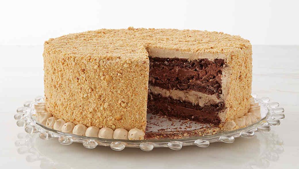 Mocha Dacquoise Cake