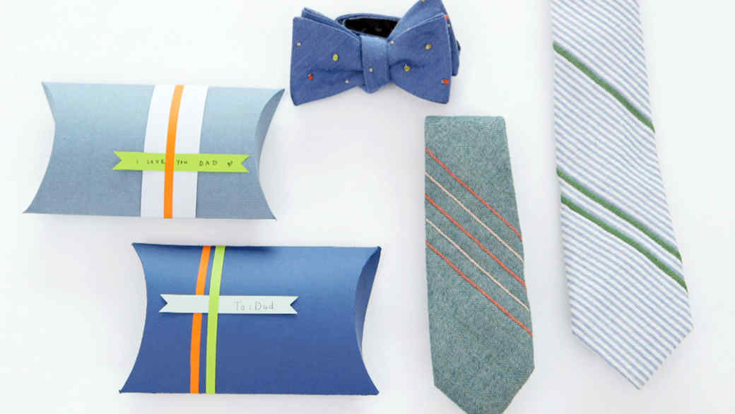 How to Make a French-Knot Tie and Gift Box for Father's Day