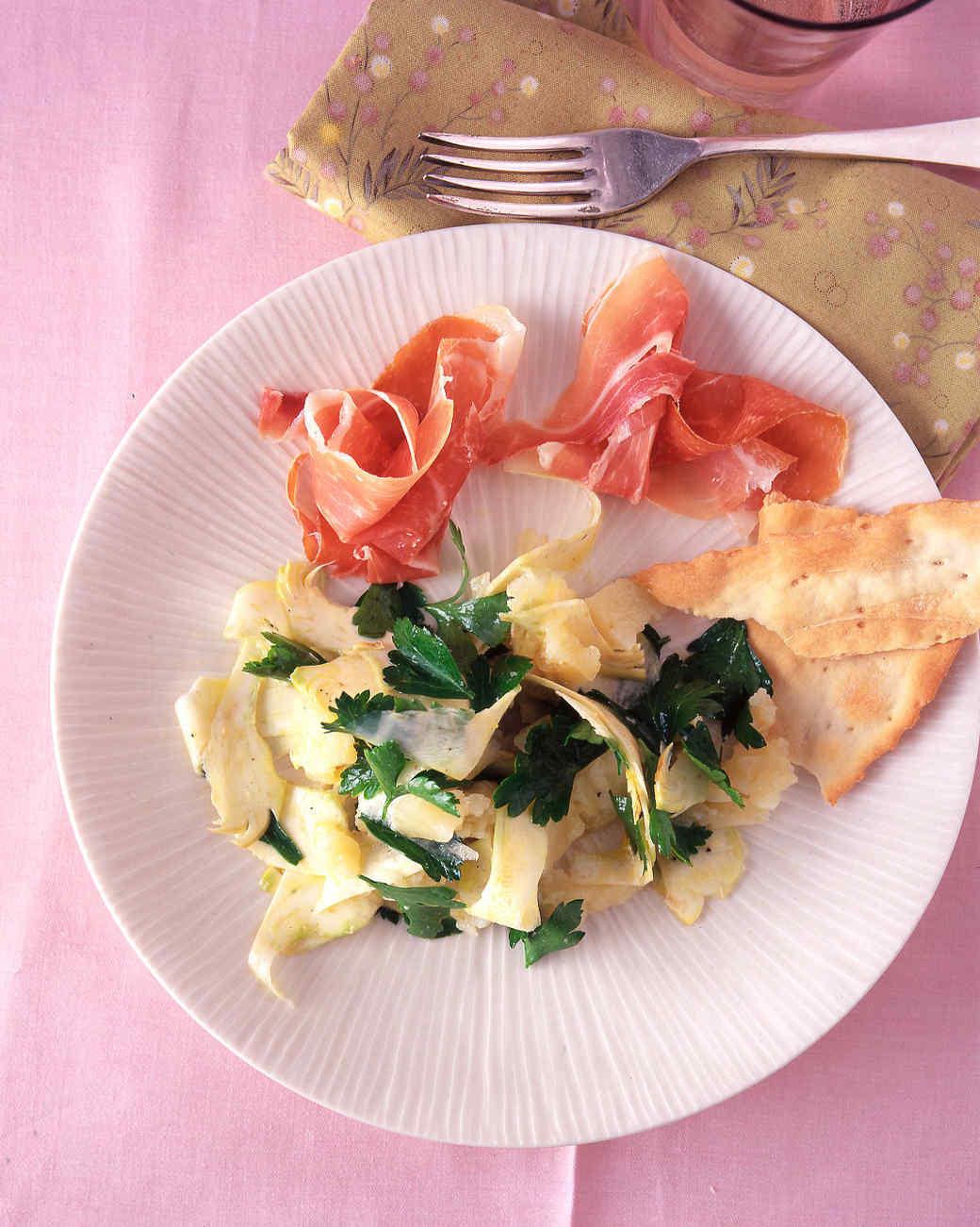 Shaved-Artichoke and Parsley Salad with Serrano Ham