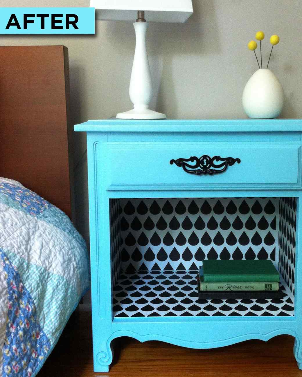 flea market flip how to make over a bedside table - How To Flip Furniture