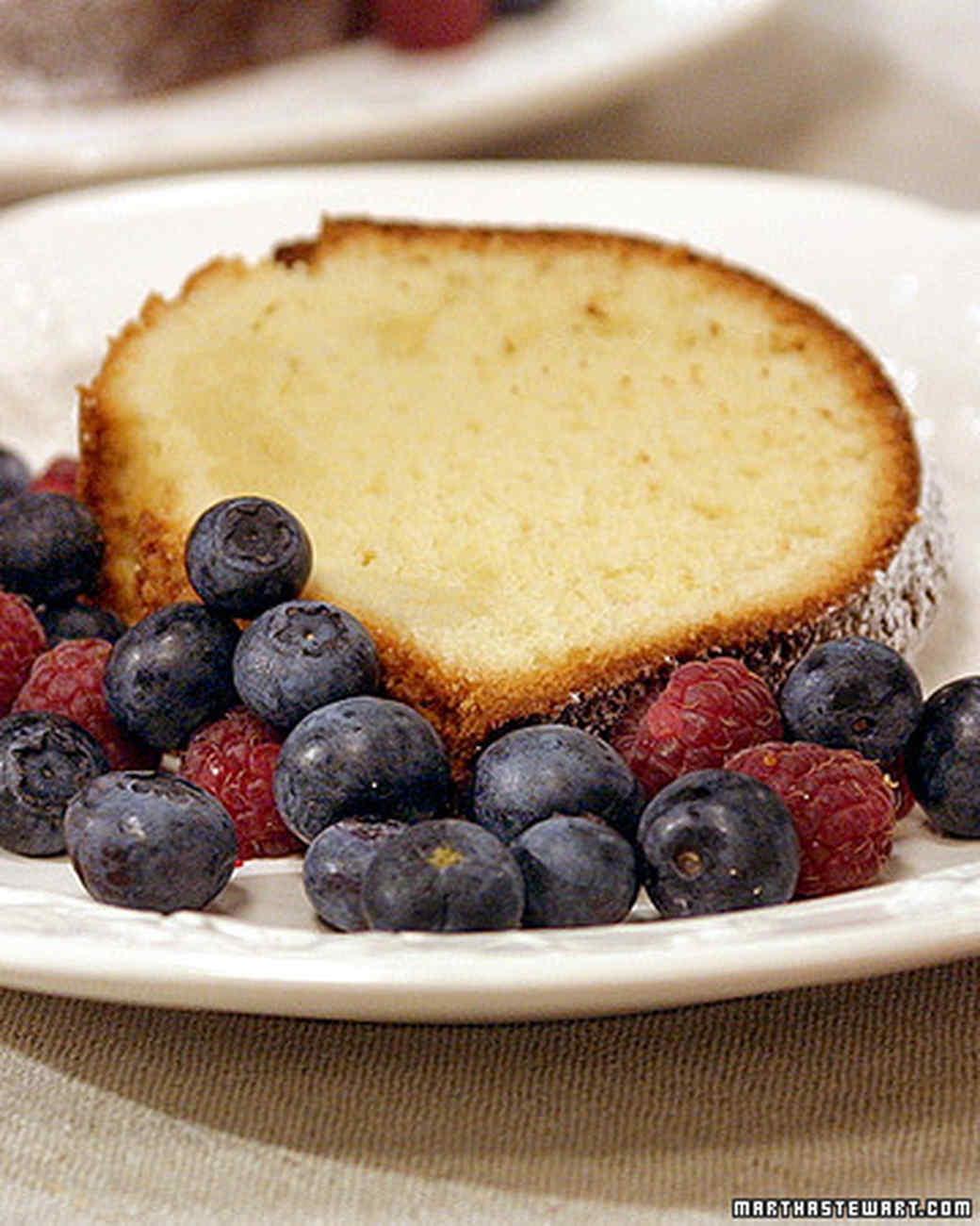 Cream Cheese Pound Cake with David Recipe | Martha Stewart