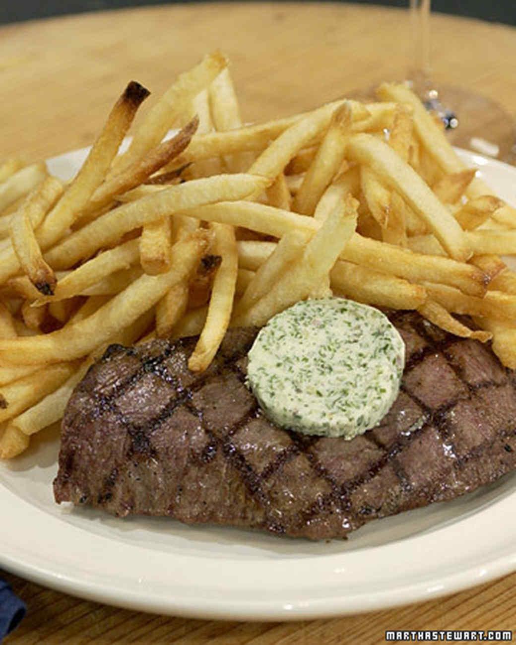 Steak Frites Herb Butter Recipe