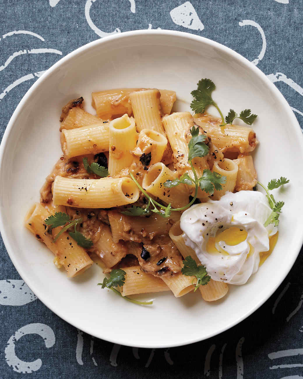 Rigatoni with Eggplant and Yogurt