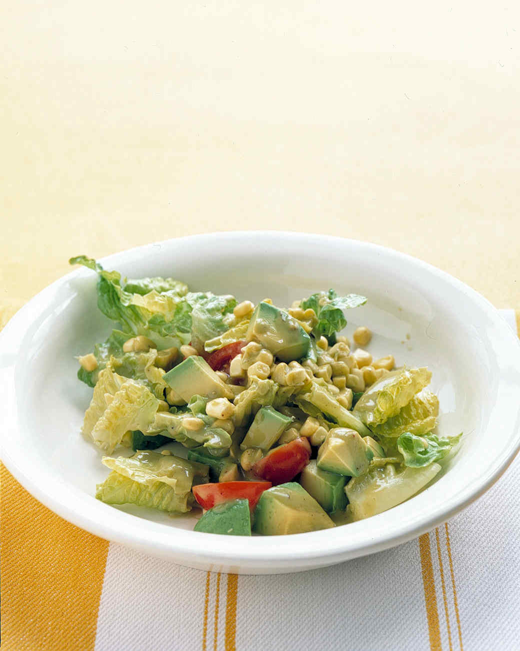 Romaine, Avocado, and Corn Salad Recipe   Martha Stewart
