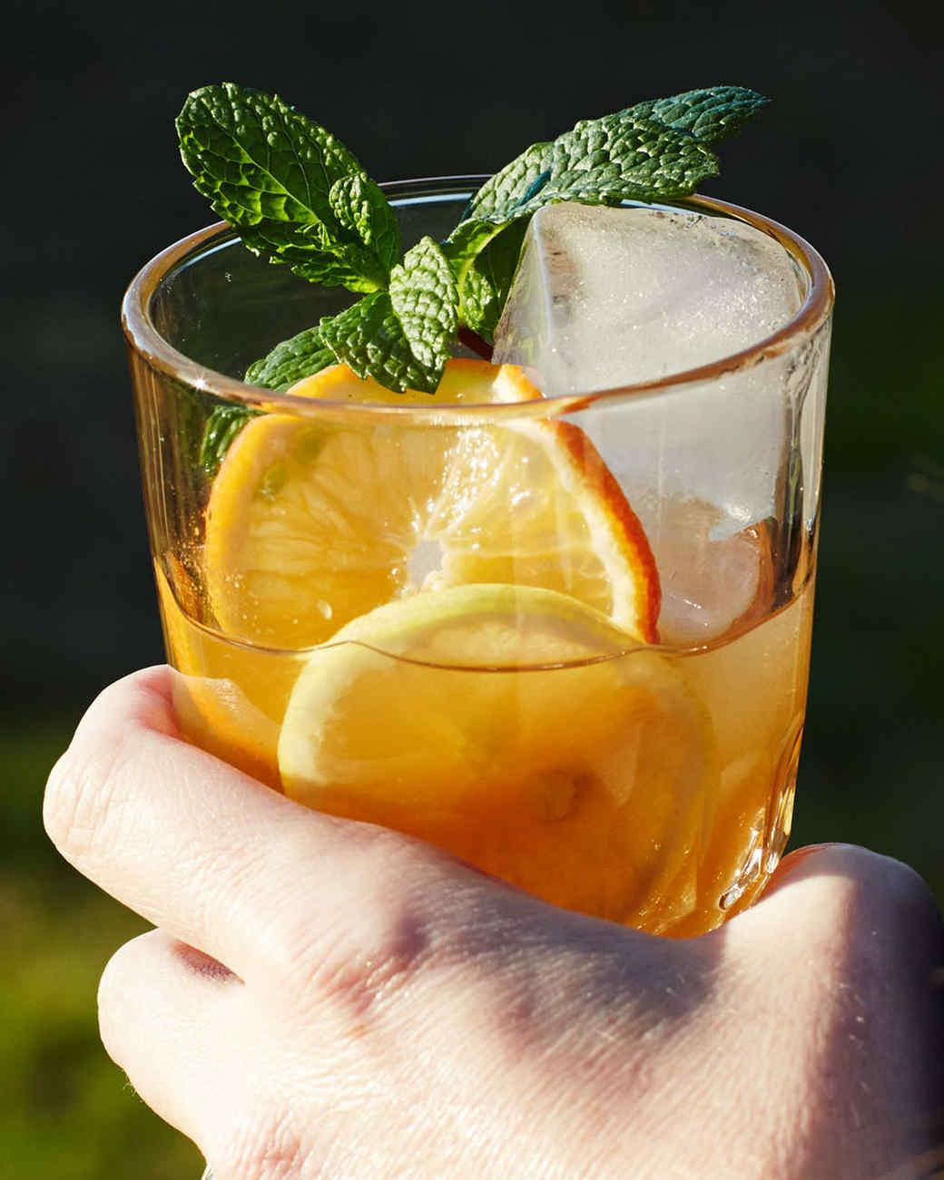Orange-and-Lemon Iced Tea