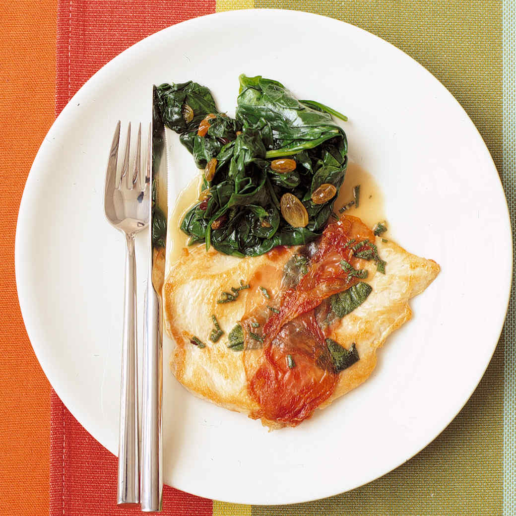 Menu for Chicken with Prosciutto and Sage