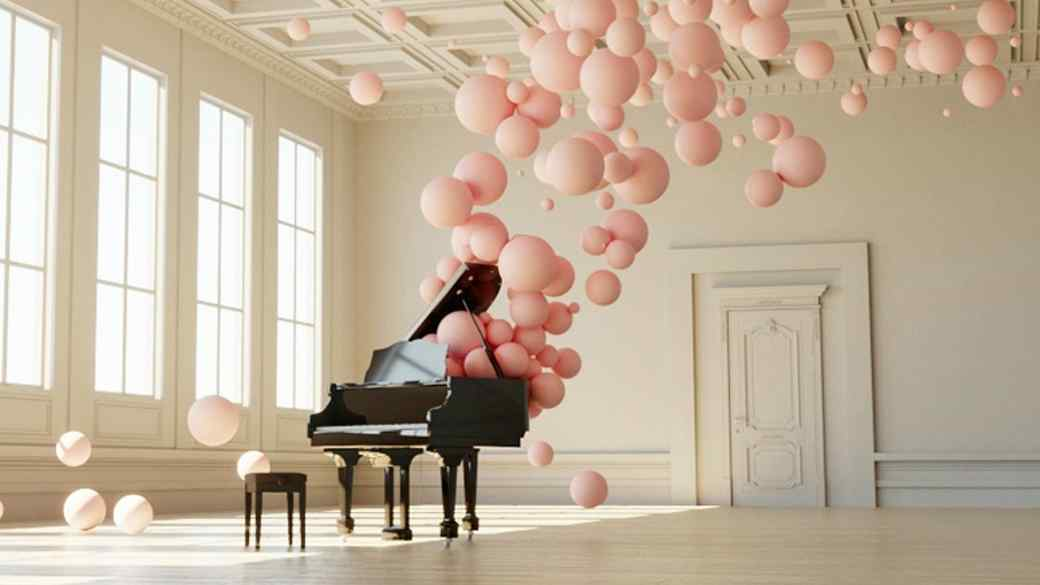 Federico Picci's music-inspired balloon installations