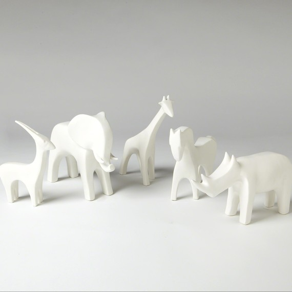 Menagerie in White