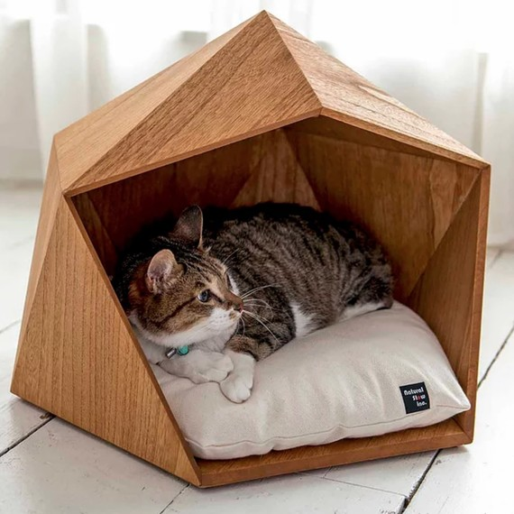 geometric pet bed