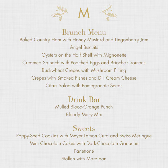 Christmas Brunch Open House At Martha's