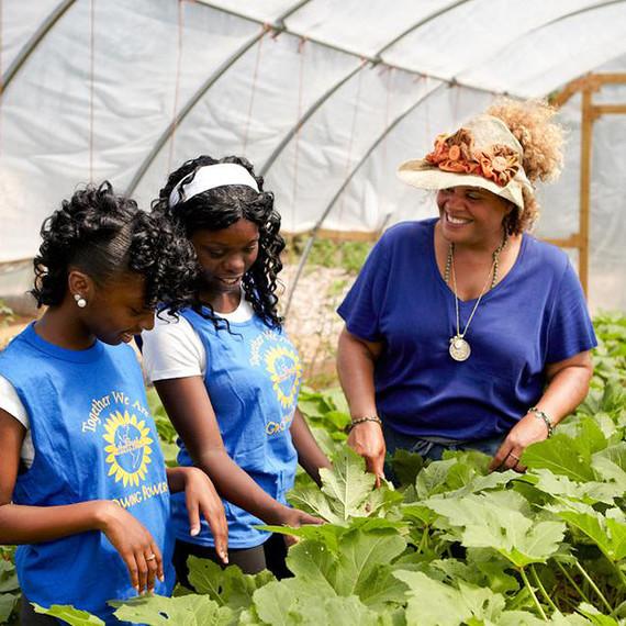 Erika Allen gardening with children