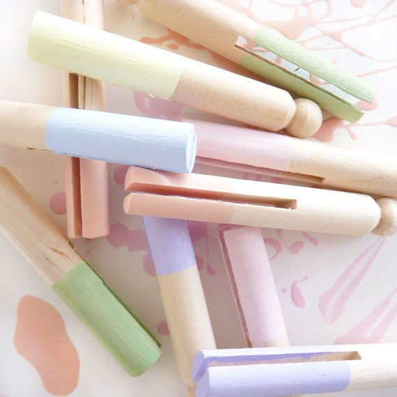 DIY Pastel Paint Dipped Easter Napkin Rings