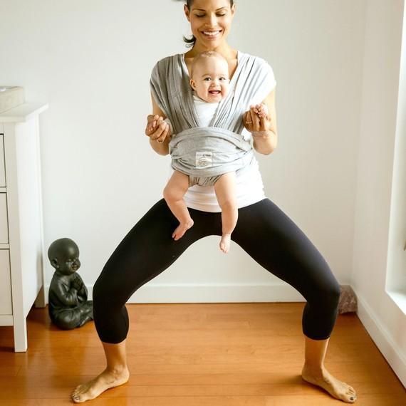 Mommy Yoga Goddess Pose