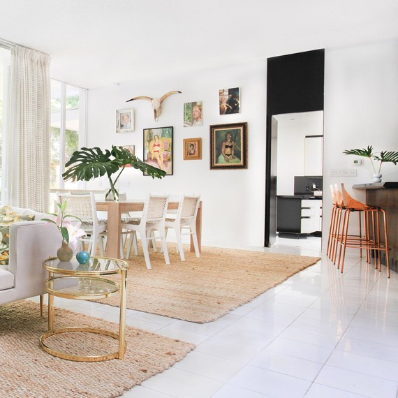 Kelly Oxford's Los Angeles Dining Area Designed by Homepolish