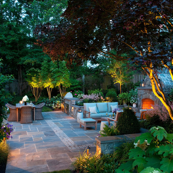 landscaping trends outdoor trees and patio
