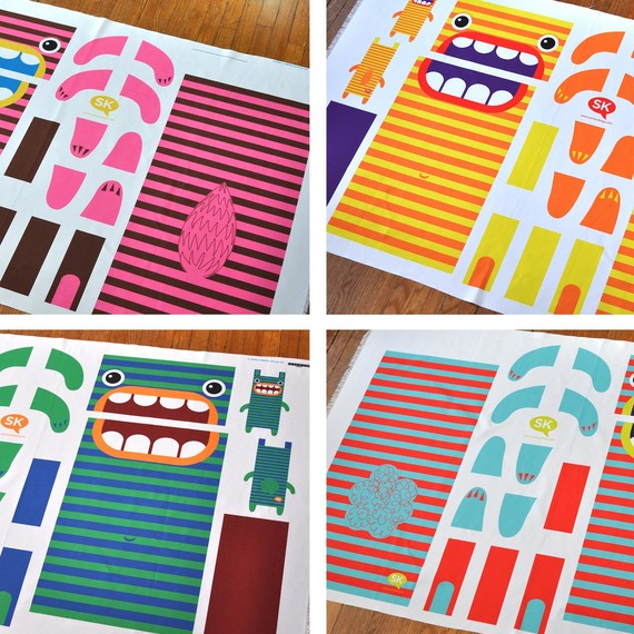 Hungry Monster Laundry Bag patterns