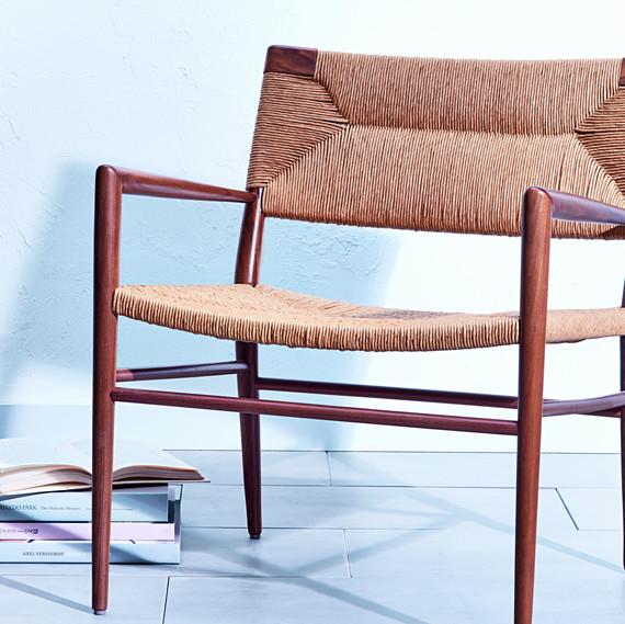 rush woven chair