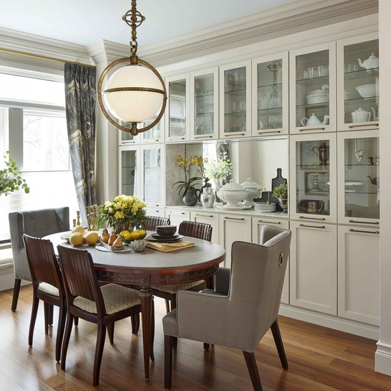 A Cramped Kitchen And Dining Room Become One Ideal: Before And After Dining Room Inspiration Remodel Photos