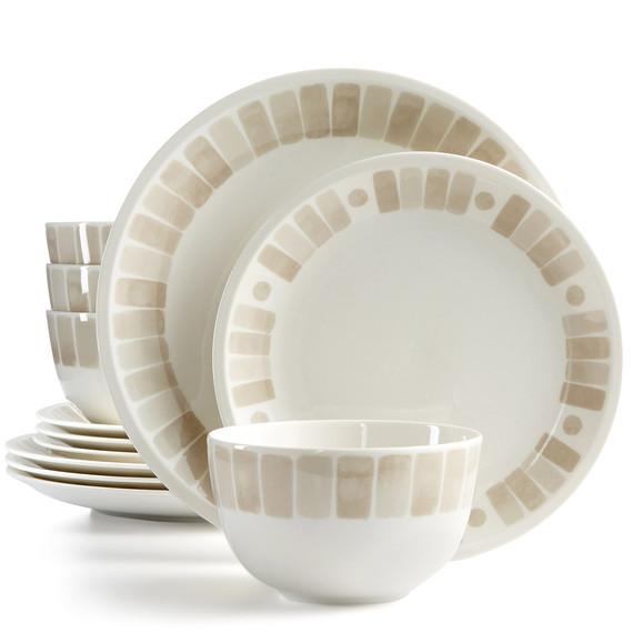 Macys heirloom dinnerware tan