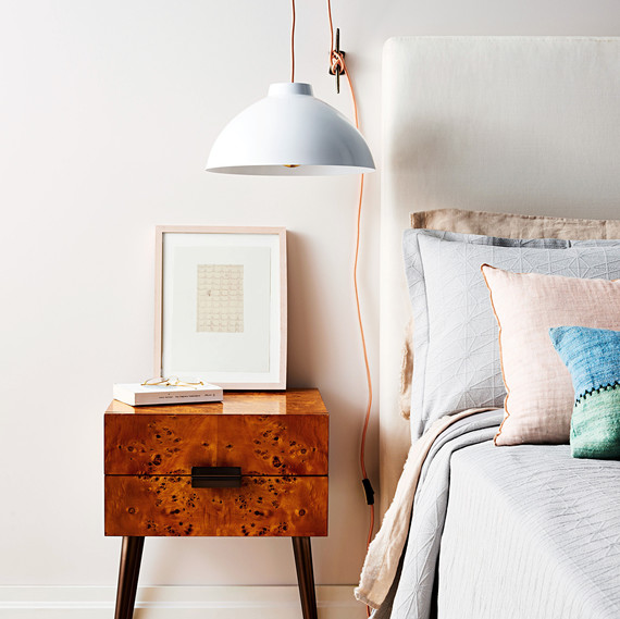 What A Bright Idea Hanging Bedside Pendant Lamp Martha Stewart