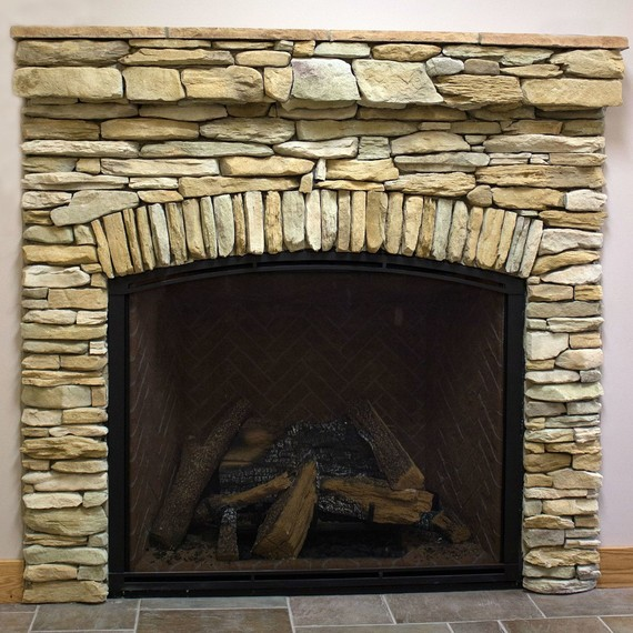 Stacked Stone Fireplace how to create the stacked stone fireplace look on a budget