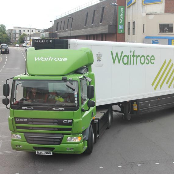 Waitrose Delivery Trucks Food Waste