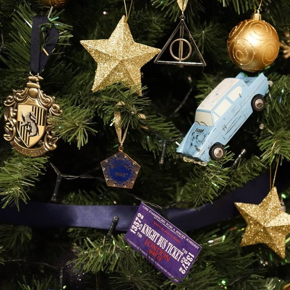Harry Potter themed Christmas tree