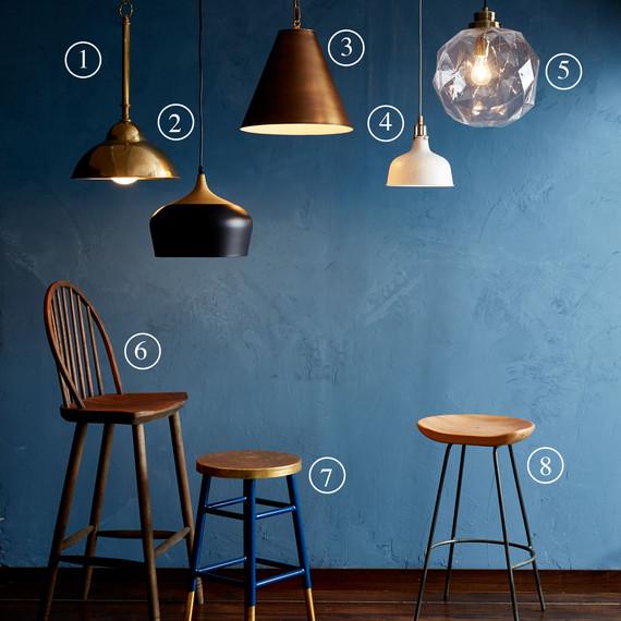 Lighting and stools