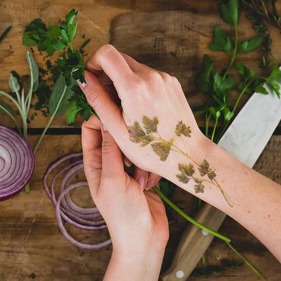 scented herb tattoo